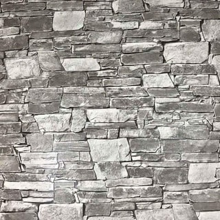 Link to Wallpaper textured grey modern faux realistic brick stone 3D Similar Items in Wall Coverings