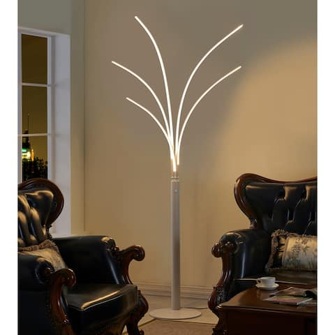 Artiva USA Aurora II 60W LED Arched Floor Lamp with Touch Dimmer