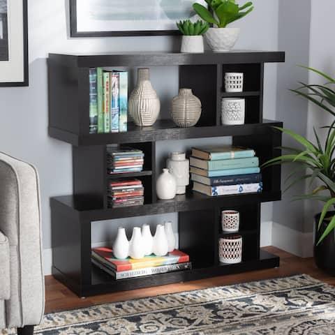 Dora Modern and Contemporary 3-Tier Geometric Bookshelf