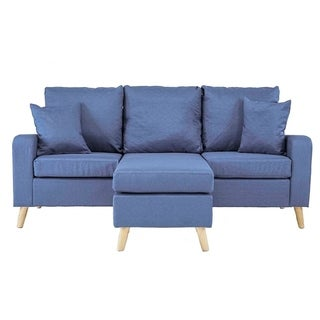 Link to Mid Century Style Small Space Reversible L-Shape Sectional Sofa Similar Items in Living Room Furniture
