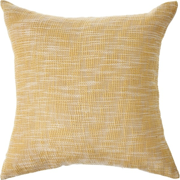 Soft Yellow Distressed Throw Pillow