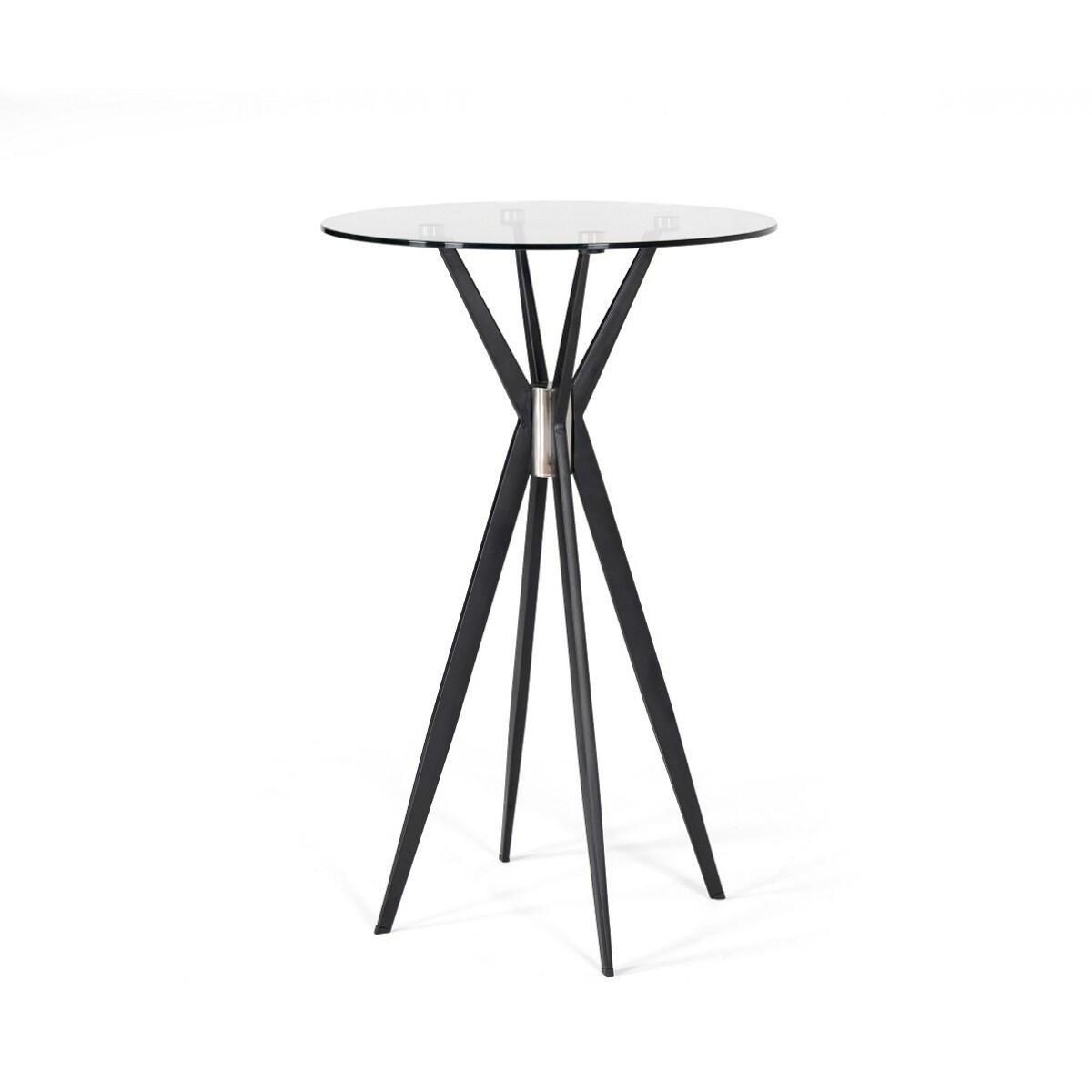 Modrest Kaitlyn Modern Black Bar Table