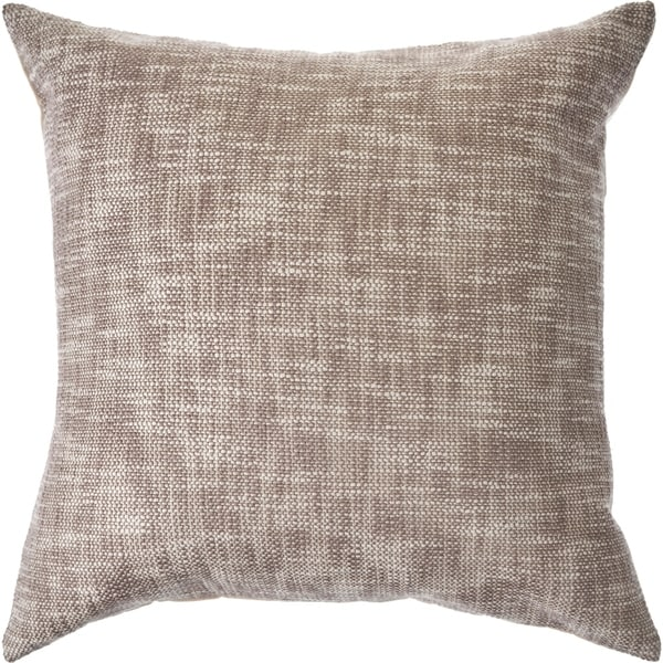Soft Brown Distressed Throw Pillow