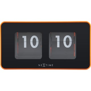 Link to Unek Goods NeXtime Flip Table/Wall Clock, Shiny Orange, Rectangle, Battery Operated Similar Items in Decorative Accessories