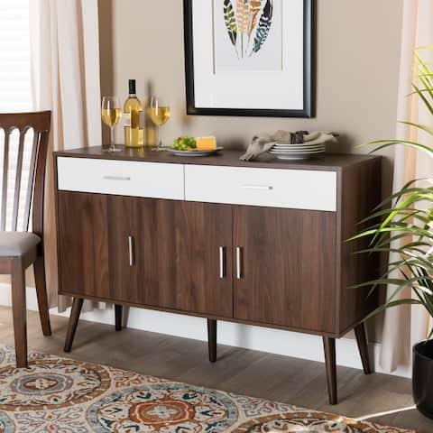 Leena Mid-Century Modern 2-Drawer Sideboard Buffet