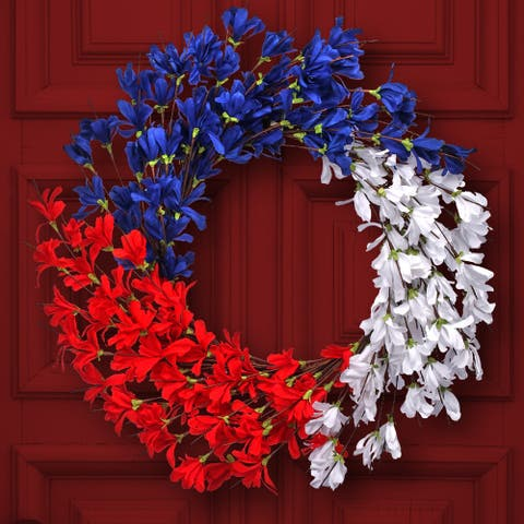 "Independence Azalea Wreath 24"""
