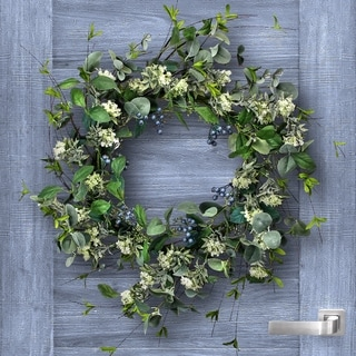 """Blueberry & Lace Wreath 26"""""""