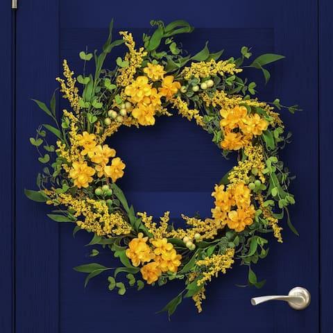 "Primrose & Golden Rod Wreath 24"""