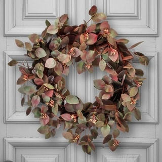 "Link to Seeded Oval Eucalyptus Wreath 24"" Similar Items in Decorative Accessories"