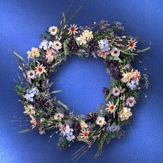 Thistle Wild Flower Wreath 24""