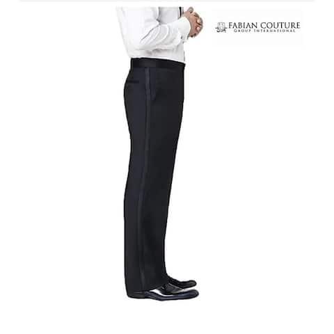 Neil Allyn Men's Tuxedo Trouser Size 33, Satin Stripe - 33R