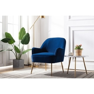 Link to Porthos Home Adora Accent Chair, Velvet Upholstery, Iron Legs Similar Items in Living Room Chairs
