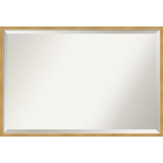 Link to Polished Brass Gold Wood Framed Wall Mirror Similar Items in Mirrors