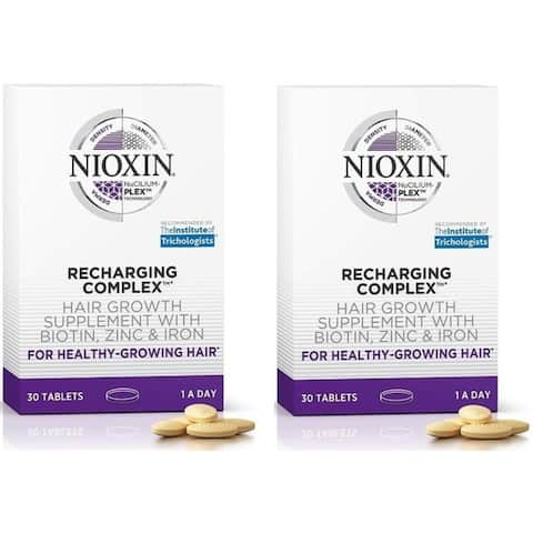 Nioxin Recharging Complex Hair Growth Supplement 30 Tablets Pack Of 2