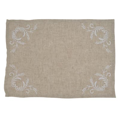 Elegant Placemats with Embroidered Design (Set of 4)
