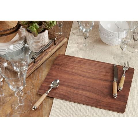 Wood Print Design Table Mats (Set of 4)