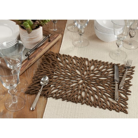 Table Placemats with Lase Cut Design (Set of 4)
