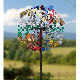 75-inch Multi-Color Bubbles Kinetic Wind Spinner