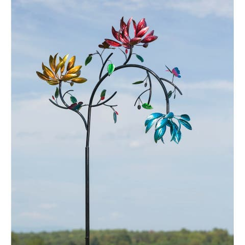 91-inch Spinning Flowers Kinetic Wind Spinner