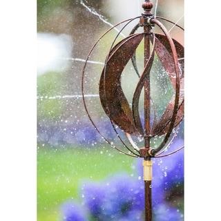 48-inch Copper Sphere Hydro Kinetic Wind Spinner