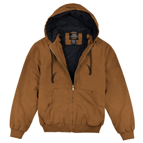 Victory Outfitters Mens Zip Up Hooded Work Wear Canvas Jacket