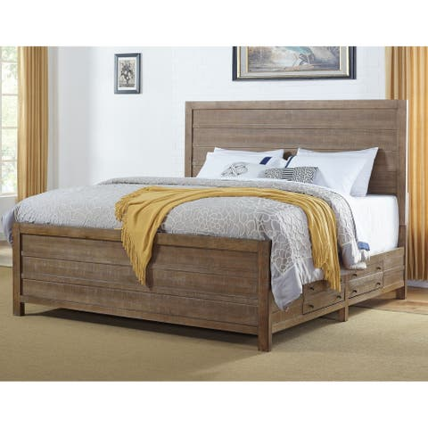 Seville Smokey Caramel Panel Storage Bed by Greyson Living