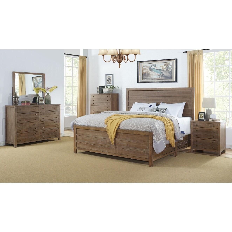 Seville Smokey Caramel Storage 5 Piece Bedroom Set By Greyson Living Overstock 30779772 Queen