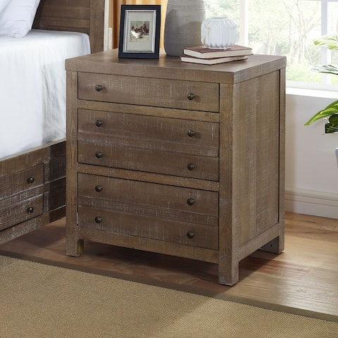 Seville 3-Drawer Smokey Caramel Nightstand by Greyson Living