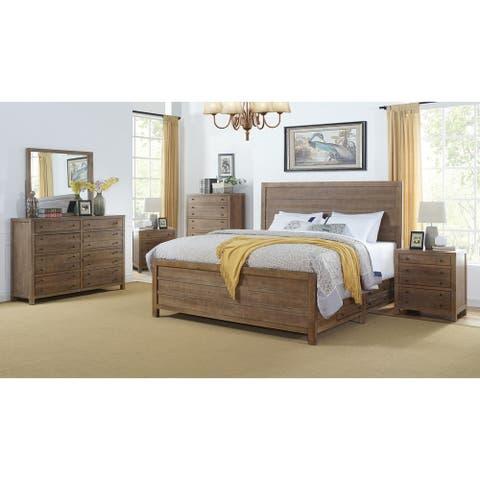 Seville Smokey Caramel Storage 6-Piece Bedroom Set by Greyson Living