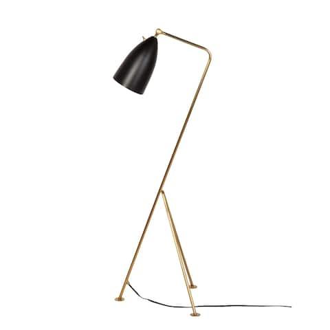 Grasshopper Adjustable Brass Floor Lamp - Matte Black