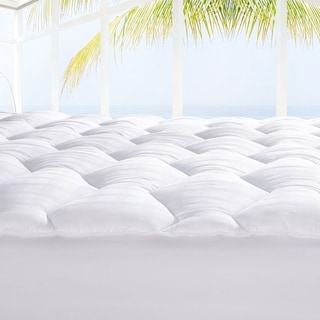 Porch & Den La Paz White 500TC Cotton Down Alternative Mattress Pad