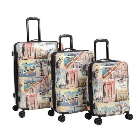 American Flyer New York 3-Piece 8-Wheel Hardside Luggage Set