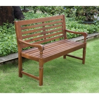 Link to Teba Natural Acacia Garden Bench by Havenside Home Similar Items in Patio Furniture