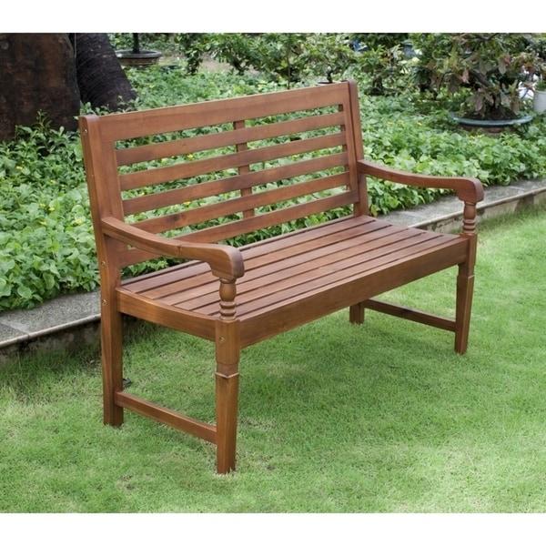 Teba Natural Acacia Garden Bench by Havenside Home. Opens flyout.