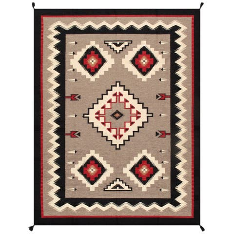 Pasargad Home Kilim Collection Hand-Woven Wool Area Rug