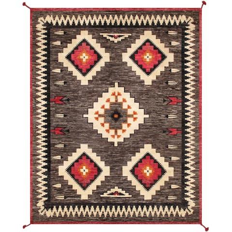 "Pasargad Home Kilim Hand-Woven Wool Area Rug - 8' 0"" X 10' 0"""
