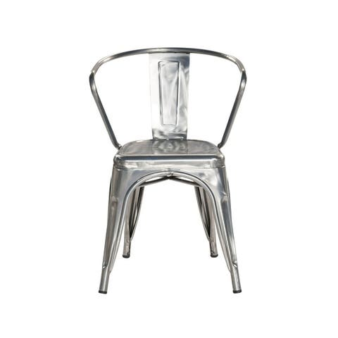 Metal Industrial Stackable Rustic Cafe Dining Chair (Set of 4)