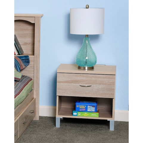 OS Home and Office Furniture Model 41107 One Drawer Night Stand