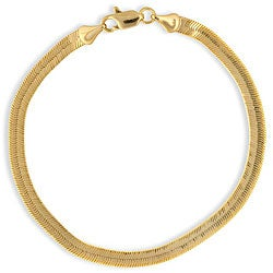 Simon Frank 14k Gold Overlay 8-inch Herringbone Bracelet