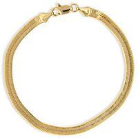 Simon Frank Gold Overlay 8-inch Herringbone Bracelet