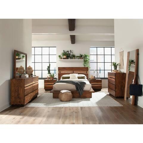 Capistrano Smokey Walnut 3-piece Bedroom Set with 2 Nightstands