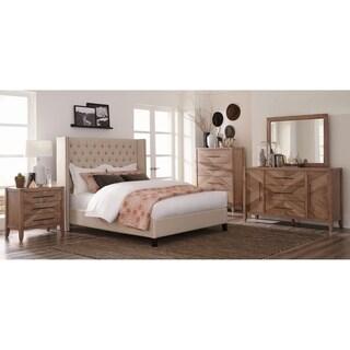 Kezia Beige 6 Piece Tufted Upholstered Bedroom Set