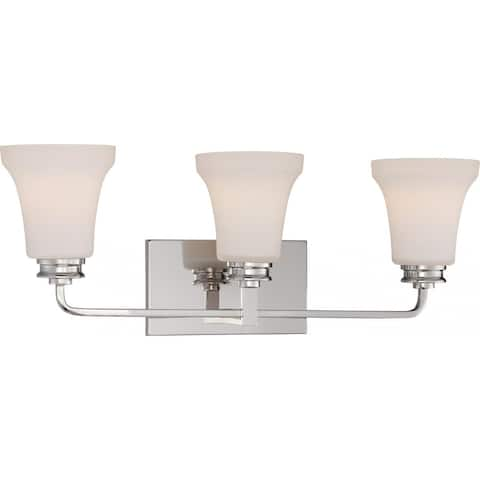 Cody 3-Light Vanity Fixture with Satin White Glass - LED Omni Included