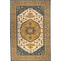 Momeni Persian Garden Teal Blue NZ Wool Rug (8' X 10')