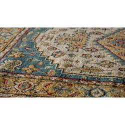 Royal Persian Teal Hand Finished NZ Wool Rug (8' x 8' Round) - Thumbnail 1