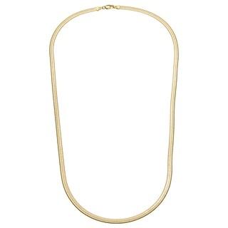 """Simon Frank Designs 5mm Herringbone Necklace Yellow Gold / Silver Overlay 5mm Herringbone Necklace (18-30"""") (More options available)"""