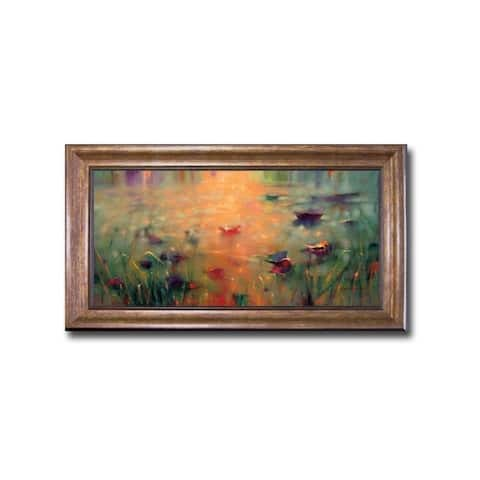 Mystical Memory by Donna Young Bronze-Gold Framed Canvas Art (28 in x 16 in Framed Size)