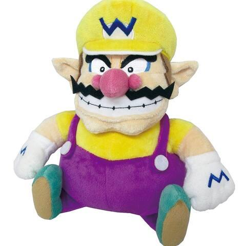 """Super Mario All Stars - Wario 10"""" Plush - Purple"""