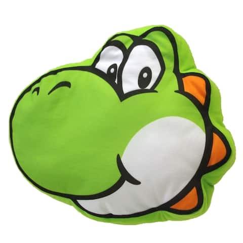 """Super Mario - Yoshi Pillow 13"""" - Green"""