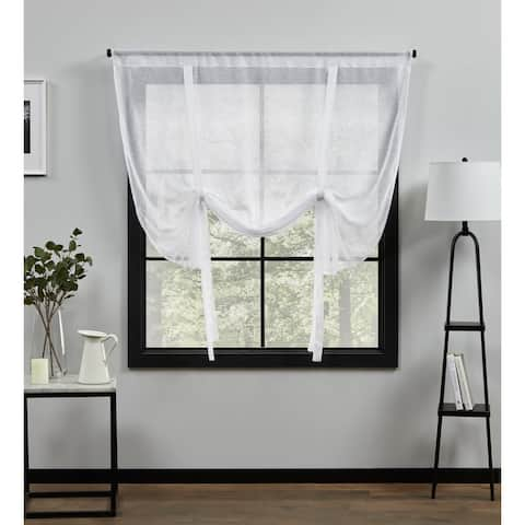 ATI Home Belgian Sheer Rod Pocket Tie Up Shade - 54X63
